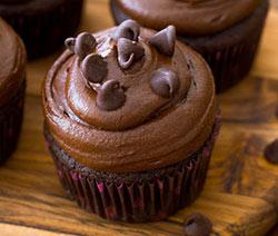 cupcakes à l'américaine au chocolat noir