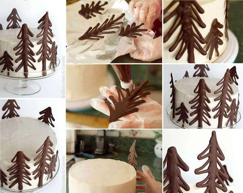décorer un gâteau au chocolat