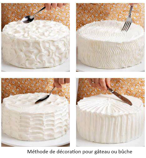 D coration b che de no l - Decoration gateau avec creme chantilly ...