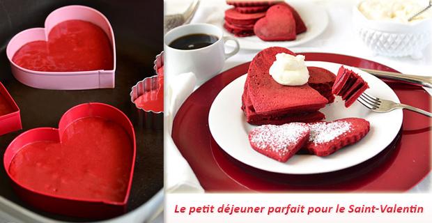 recette pancakes saint-valentin