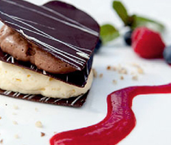 mousse au chocolat spécial saint-valentin