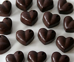 décor chocolat coeur