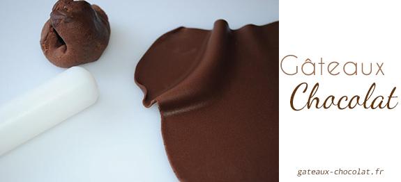 décoration chocolat avec du chocolat plastique