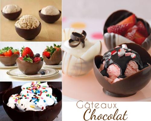 dessert coupelles en chocolat