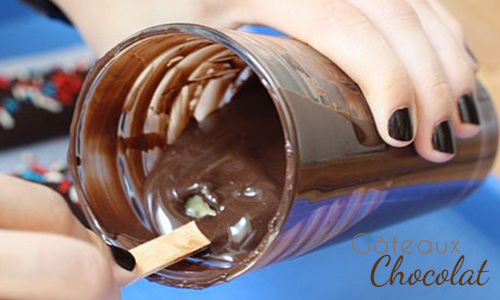 sucettes bananes chocolat glacée