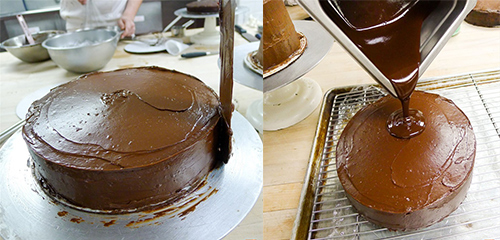 glaçage au chocolat de la sachertorte