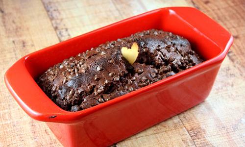 cake au chocolat surprise de l'intérieur  cœur
