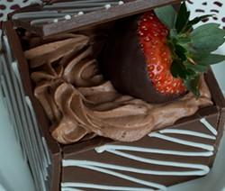 dessert facile dans une boite en chocolat
