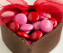 recette coupe chocolat en forme de coeurs