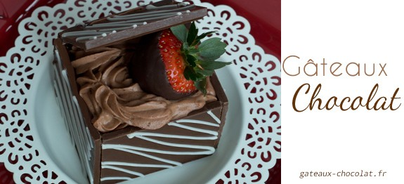 dessert en forme de boite en chocolat. Black Bedroom Furniture Sets. Home Design Ideas