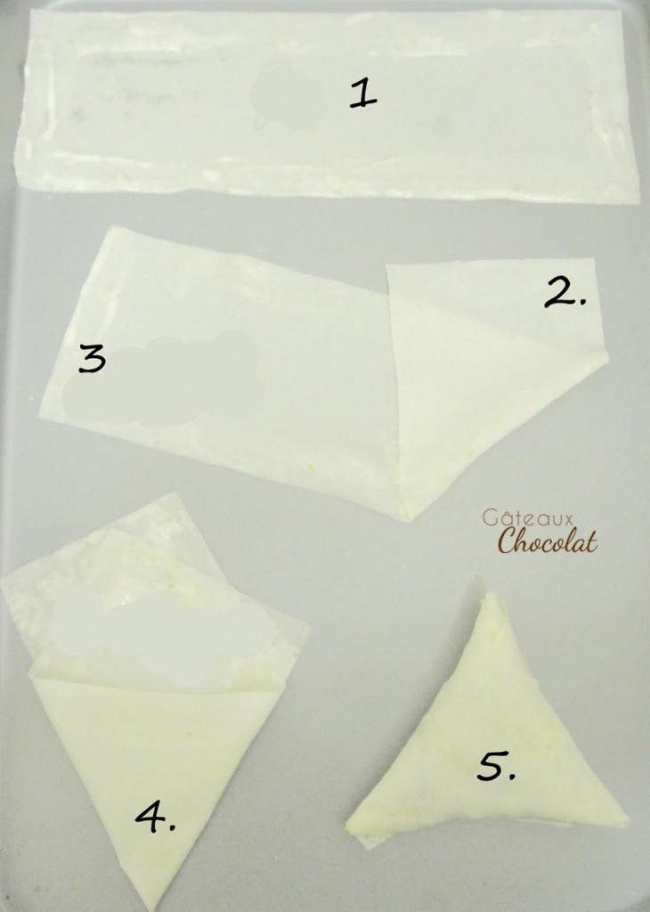 pliage des samossas en triangle