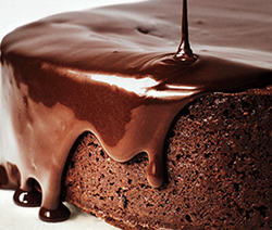 Gateau aux chocolat avec glacage