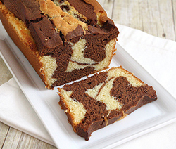 G teau marbr vanille chocolat version martha stewart - Mesurer sucre sans balance ...