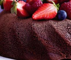 gâteau moelleux au chocolat et caramel