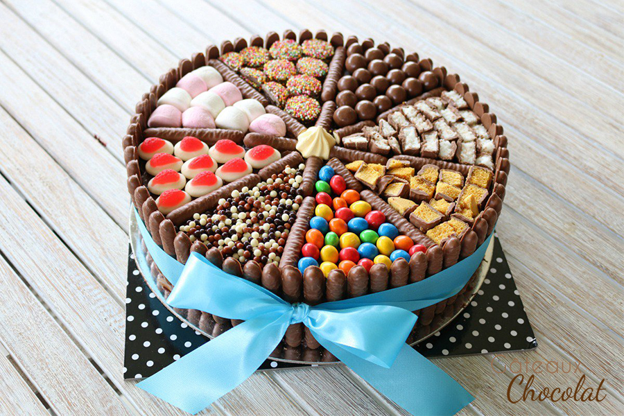 gâteau d'anniversaire bonbons
